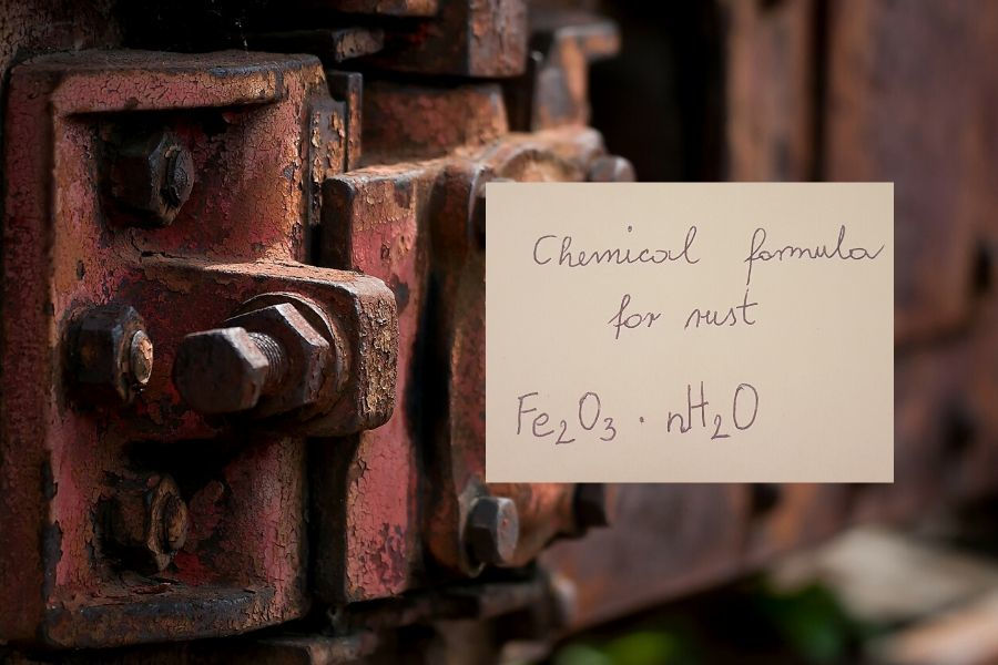 What is chemical formula for rust.