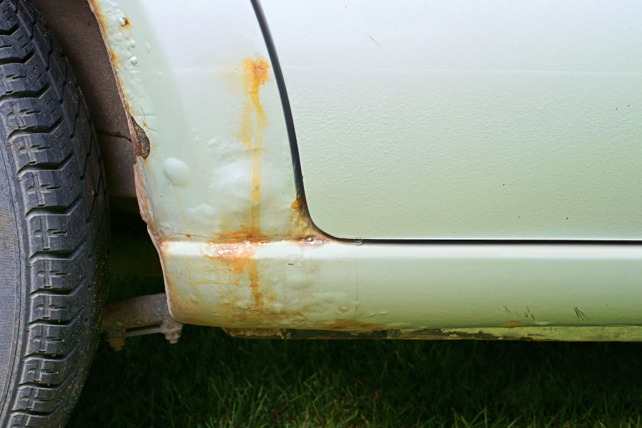 How fast does rust spread on a car.