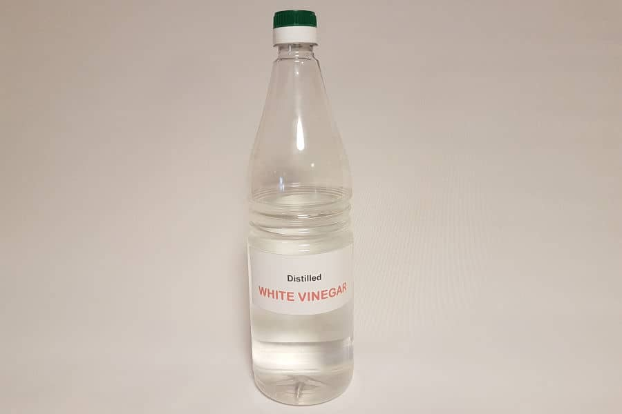 Distilled white vinegar is a popular homemade solution for cleaning and removing rust.