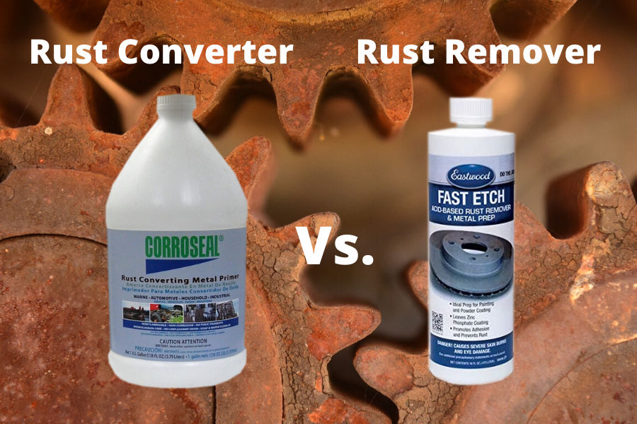 Difference between rust converter and rust remover.