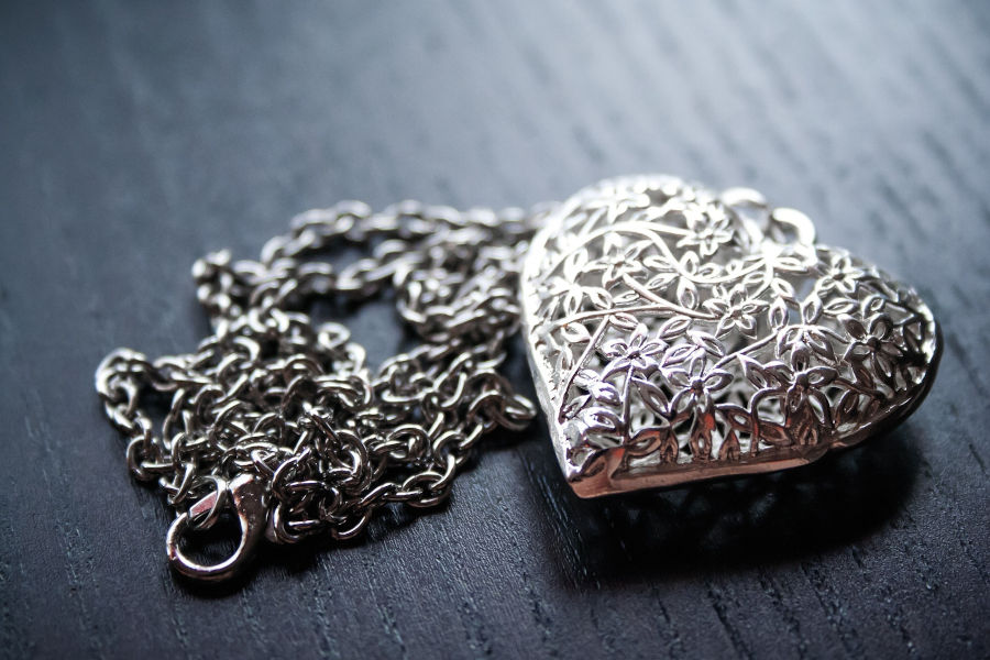 Jewelry made of silver.