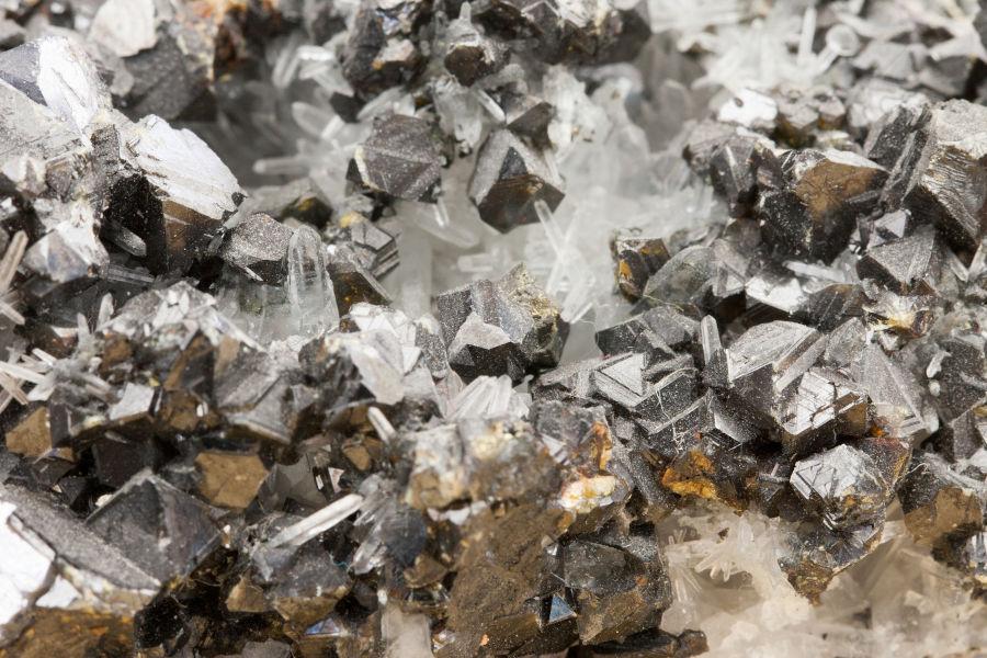 Lead zinc ore texture.