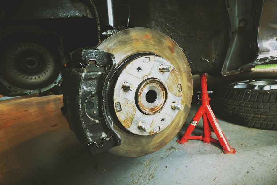 Rusted brake rotor.