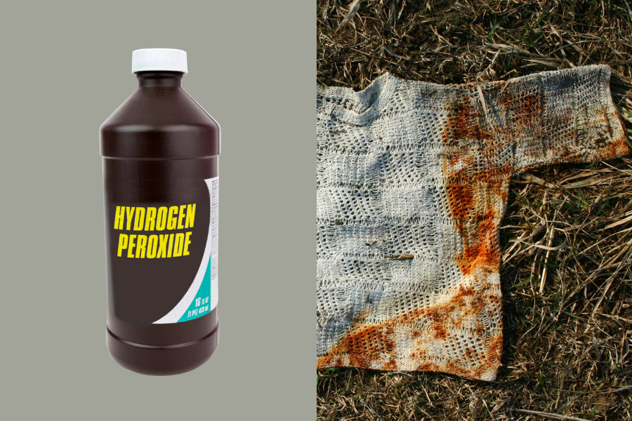 Simple way how to make your clothes rust-free again, using hydrogen peroxide and a few other ingredients.