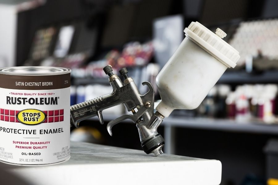 What to add to Rust-Oleum to thin it.