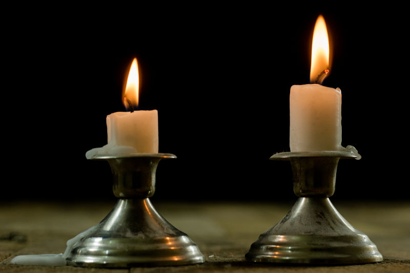 Removing candle wax from metal.
